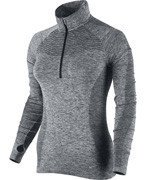 bluza do biegania damska NIKE DRI-FIT KNIT 1/2 ZIP / 719469-010