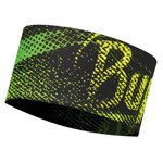 opaska do biegania BUFF HEADBAND BUFF FLASH LOGO YELLOW / 113647.117.10