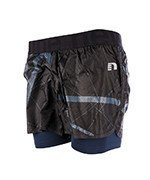 spodenki do biegania damskie NEWLINE IMOTION PRINTED 2 LAYER SHORTS / 70192-366