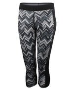 spodnie sportowe damskie 3/4 ADIDAS TECHFIT CAPRI ALL OVER PRINTED TIGHT / F95013