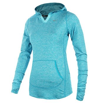 bluza do biegania damska NIKE ELEMENT HOODY SOLID / 545894-407