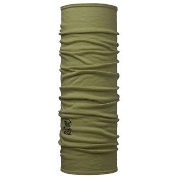 chusta do biegania BUFF MERINO WOOL BUFF SOLID LIGHTMILITARY / 113010.850.10