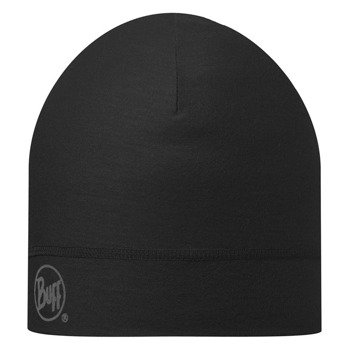 czapka do biegania BUFF COOLMAX 1 LAYER HAT BUFF SOLID BLACK / 111498.999