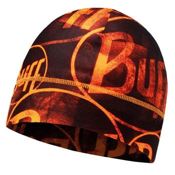 czapka do biegania BUFF MICROFIBER 1 LAYER HAT BUFF MULTI LOGO / 113250.211.10
