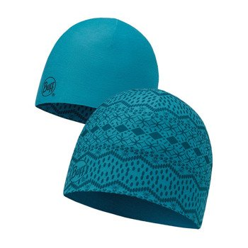 czapka dwustronna do biegania BUFF MICROFIBER REVERSIBLE HAT BUFF SEN BLUE / 113163.707.10
