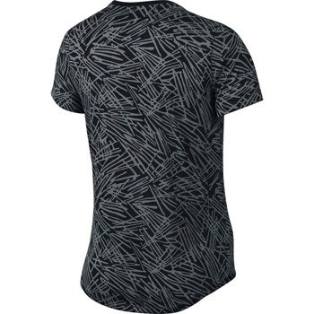 koszulka do biegania damska NIKE RUN PALM ALLOVER PRINTED TEE / 739545-065