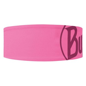 opaska do biegania BUFF HEADBAND TECH BUFF LOGO PINKFLUOR / 111460.522