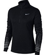 bluza do biegania damska NIKE DRY FLASH ELEMENT HALF ZIP / 856608-010