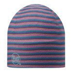 czapka do biegania BUFF MICROFIBER 2 LAYERS HAT BUFF STRIPES PLUM / 108940.622