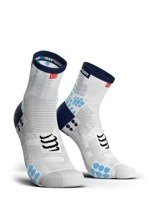 skarpety kompresyjne COMPRESSPORT PRO RACING SOCKS V3.0 HIGH SMART (1 para) / WHITE/BLUE