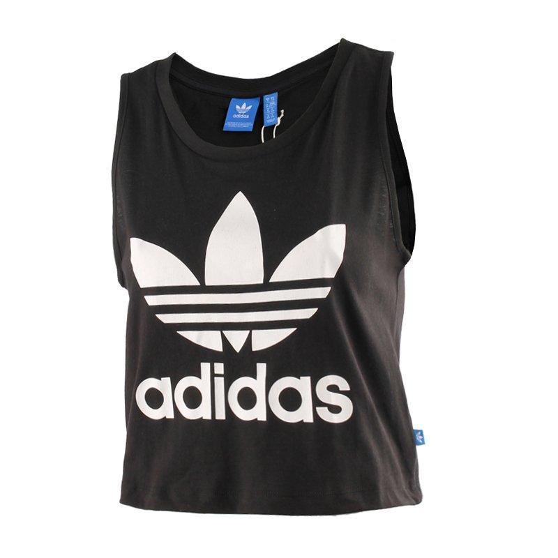 23337e554c0f1 koszulka sportowa damska ADIDAS LOOSE CROP TANK / AY8135 .