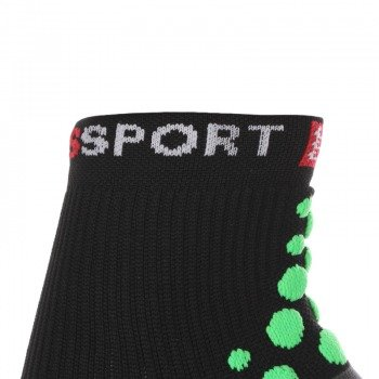skarpety kompresyjne COMPRESSPORT RUN PRO RACING SOCKS 3D.DOT HIGH-CUT (1 para) /  RSH BLACK-GREEN 11319-204