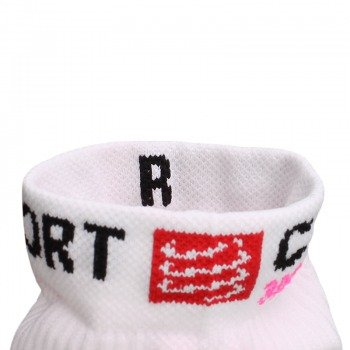 skarpety kompresyjne damskie COMPRESSPORT RUN PRO RACING SOCKS 3D.DOT HIGH-CUT (1 para) / RSH WHITE-PINK 11319-204
